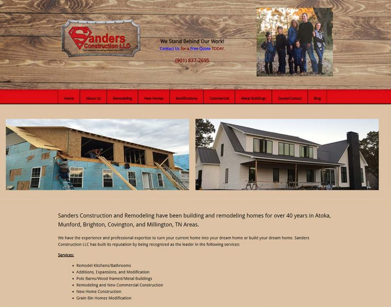 Sanders Construction and Remodeling -Munford-TN