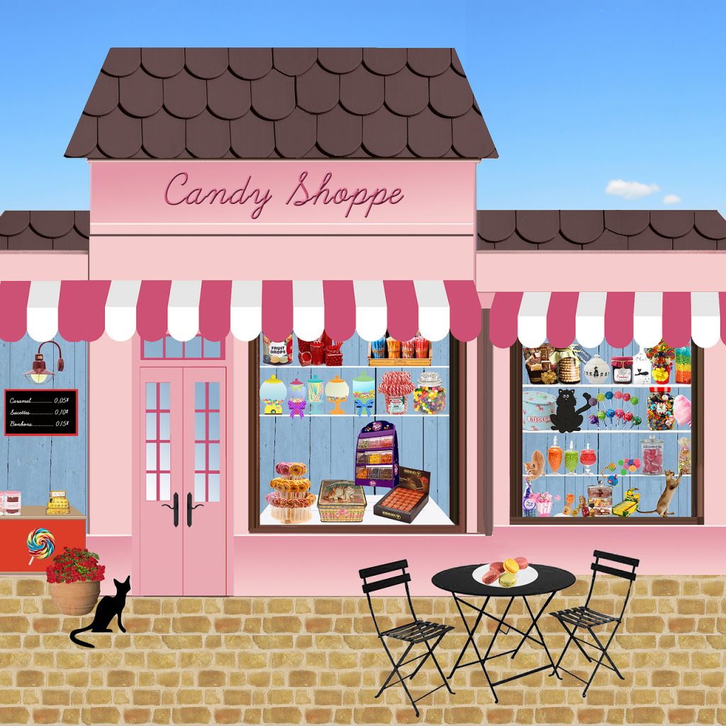 shop, candy, sweets